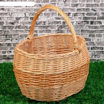 Корзина «грибная», №2, 34x28x37 см, 10 л, ручное плетение, лоза