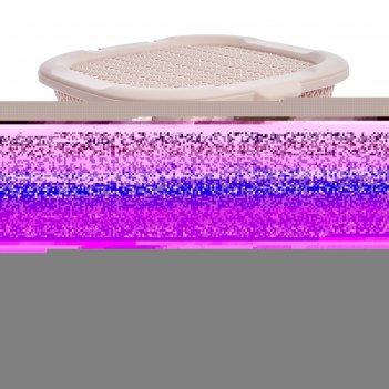 Корзина вязаный узор 15 л, цвет микс