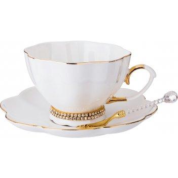 Чайный сервиз на 1 персону с ложкой рублевка 3 пр. 250 мл. (кор=36наб.)