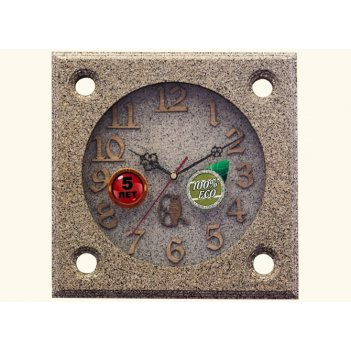 Часы настенные d30-334-камень