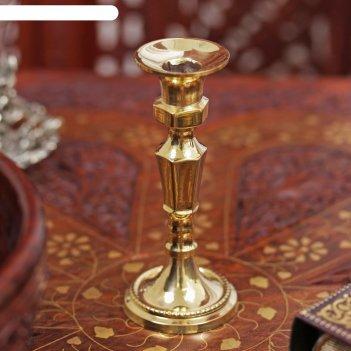 Подсвечник латунь на 1 свечу винтаж 11,3х5,5х5,5 см