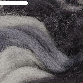 Шерсть для валяния 100% полутонкая шерсть 50 гр (мел.разн 32/401)