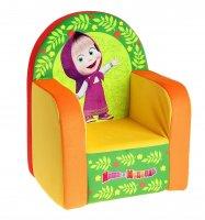Мягкая игрушка кресло маша и медведь