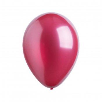 Шар латексный 12, металлик, набор 50шт., цвет бордовый