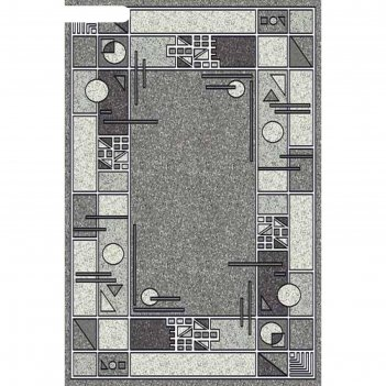 Прямоугольный ковёр silver albina 3, 80x150 см, цвет gray