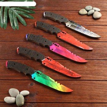 Сувенир деревянный нож 1 модификация, 5 расцветов в фасовке, микс