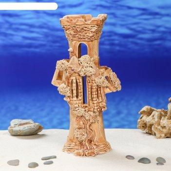 Декорации для аквариума замок-колонна