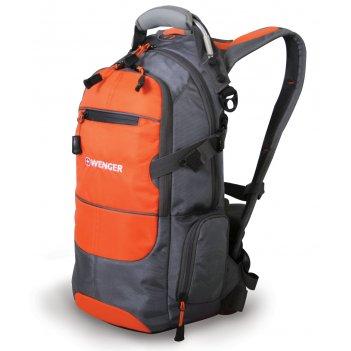 13024715 рюкзак wenger «narrow hiking pack» цв  серый/оранже