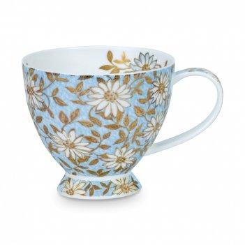 Чашка чайная «аква скай», объем: 450 мл, материал: костяной фарфор, декор,