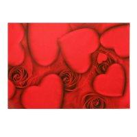 Бумага для творчества красные сердца а4 плотность 80 гр