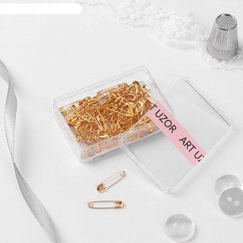 Булавка английская, №000, 19 мм, 80 шт, цвет золотой