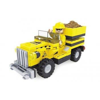 Конструктор грузовик городские строители, 84 дет