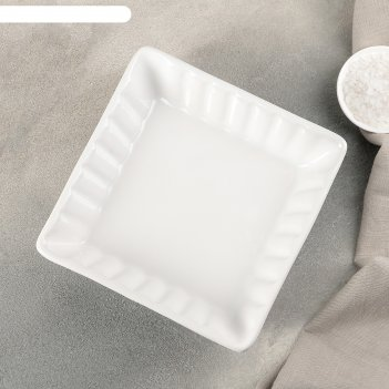 Блюдо для запекания лора 18,5х18,5х5 см, цвет белый