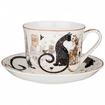 Чайная пара lefard парижские коты 500 мл (кор=18наб.)