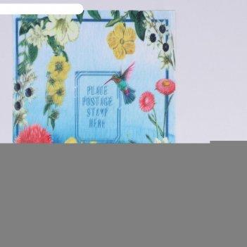 Пришивная аппликация «цветы», 3d, 27 x 20 см
