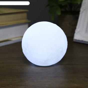 Ночник пластик луна белая средняя от бат 3lr44 в компл 10х10х9 см