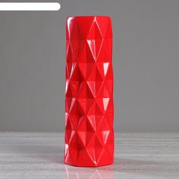 Ваза поли красная, глазурь   (1 сорт)