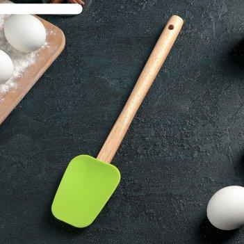 Лопатка 31 см бамбук, цвета микс