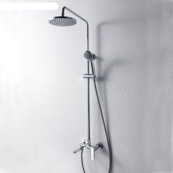 Душевая колонна bravat opal, со смесителем для ванны, поворотный излив (ве