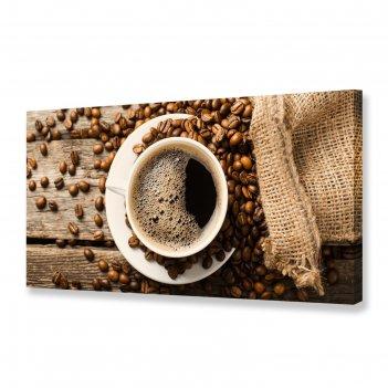 Картина на холсте утренний кофе 50х100 см