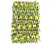 Декоративное ограждение желтая роза 240x60 см