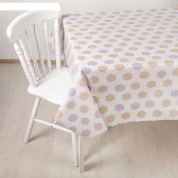 Клеенка столовая на ткани (рулон 20 метров), ширина 137 см грани, толщина
