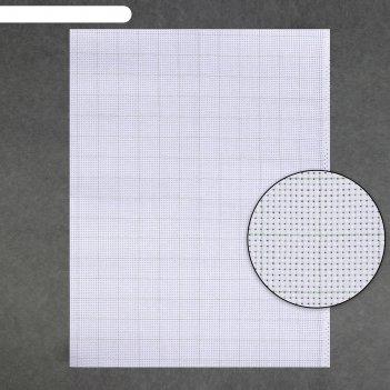 Канва для вышивания, в клетку, №11, 30 x 40 см, цвет белый
