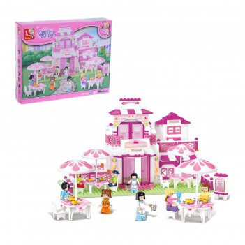 Конструктор розовая мечта домик, 306 деталей