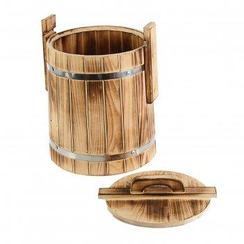 Кадка с плотной крышкой 10л термо липа добрая баня