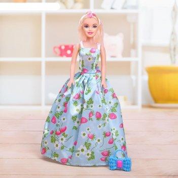 Кукла модель лида в платье микс