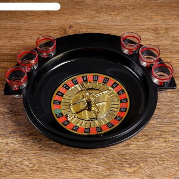 Игра пьяная рулетка, 6 рюмок