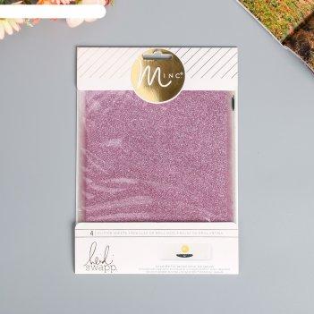 Глиттерные листы heidi swapp - minc розовый  15.24x20.32 см 4 шт