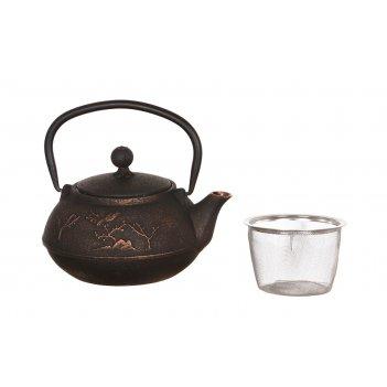 Заварочный чайник чугунный с эмалированным покрытием внутри 1200 мл (кор=8