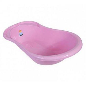 Ванночка розовая детская ангел с термометром 4102la-rs