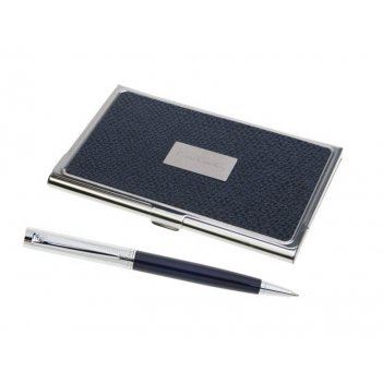 Набор pierre cardin: ручка шариковая + визитница. гравировка