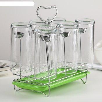 Сушилка для стаканов 23x13x21,5 см, цвет микс