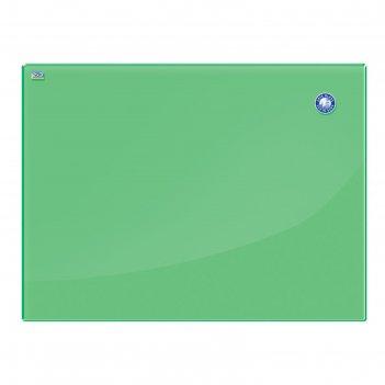 Доска магнитно-маркерная стеклянная 60x80 см, 2х3 office, зеленая tsz86 g