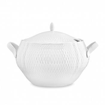 Супница с крышкой, объем: 4 л, материал: фарфор, цвет: белый, серия шер бл