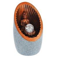 Фонтан настольный ганеша - уединение под камень 28х17х15 см