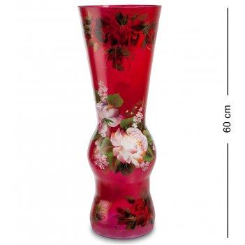 Vz-524 ваза стеклянная жостово h-600 (графин)