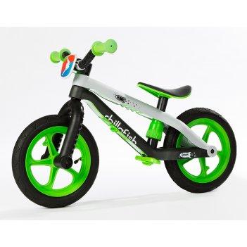 Легкий детский велобег в стиле трюкового chillafish bmxie зеленый
