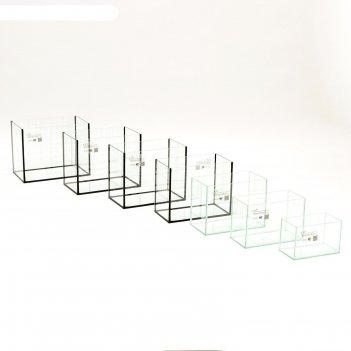 Комплект аквариумов прямоугольных матрешка без крышек,  5, 10, 15, 20, 25