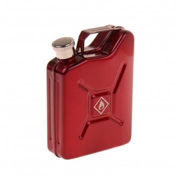 Фляжка жидкость для отжига, 150 мл, в виде канистры, красная, 10х7.5х2.5 с