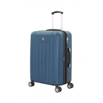 Чемодан wenger vaud синий, абс-пластик, 59 x 26,5 x 42 см, 66 л