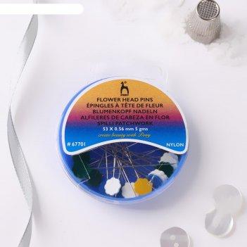 Булавки портновские, 53 мм, 5 гр, цвет разноцветные
