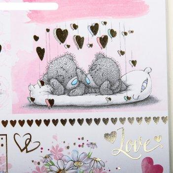 Бумага с фольгированием наша свадьба, me to you, 30,5 х 30,5 см