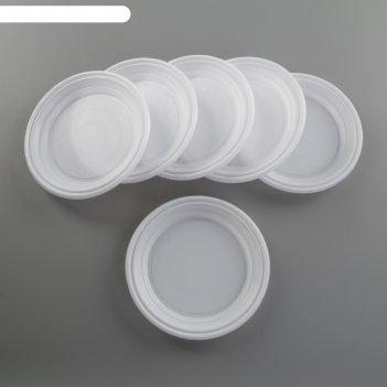 Набор тарелок 17 см все на пикник, 6 шт, цвет белый