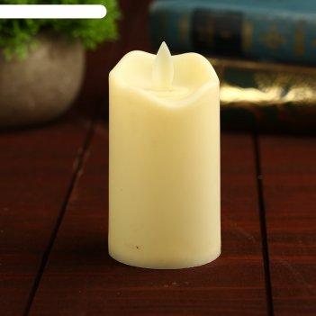 Свеча светодиодная пламя горит желтым, модель св-14