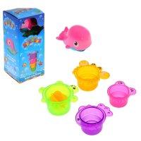Набор для игры в ванной китенок со стаканчиками, 5 предметов