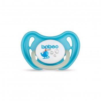 Пустышка baboo силикон.скош. ночная transport, 6 мес+